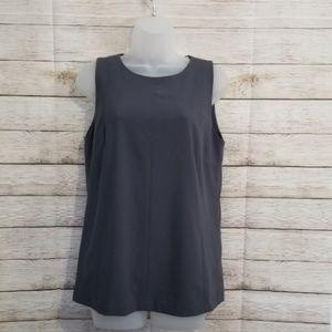 3/$15 LOFT Gray Sleeveless Blouse
